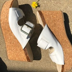KCNY Leather Wedges